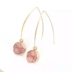 Rose Circle Drop Earrings